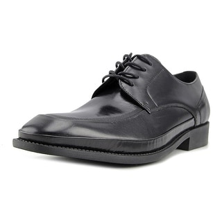 Kenneth Cole Reaction Brick Road Men  Apron Toe Leather Black Oxford