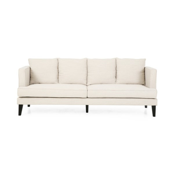 Halburge Contemporary 3-seater Fabric Sofa by Christopher Knight Home. Opens flyout.