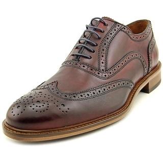 Mercanti Fiorentini forma Men Wingtip Toe Leather Burgundy Oxford