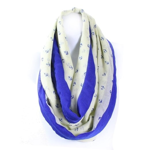 b52930e21 Shop Anchor Print Gauzy Lightweight Infinity Scarf Wide - Free Shipping On  Orders Over $45 - Overstock - 12090796