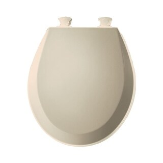 Bemis 500EC Round Closed-Front Toilet Seat and Lid with Easy-Clean & Change? Technology - N/A