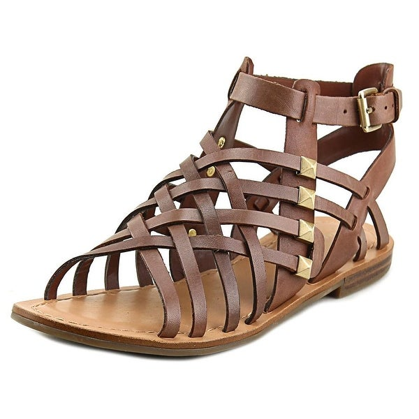Marc Fisher Fiorela Women Open Toe Leather Brown Gladiator Sandal