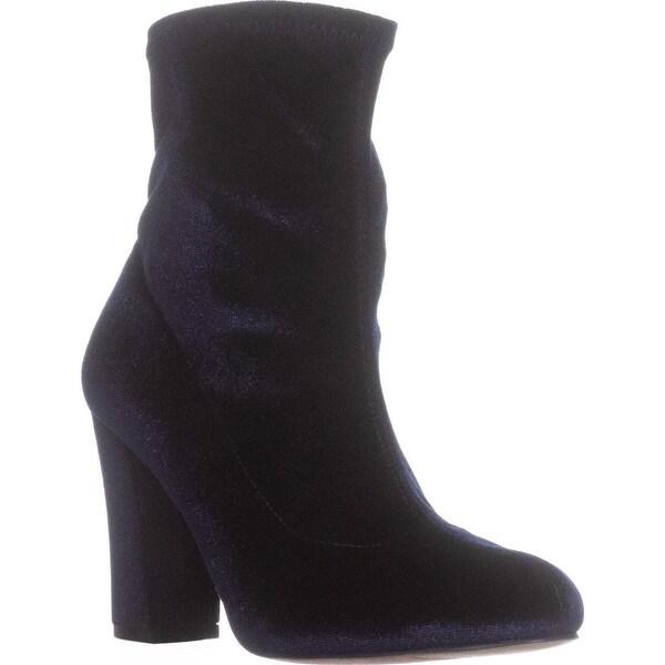 madden girl Fantaysa Ankle Booties, Navy Velvet