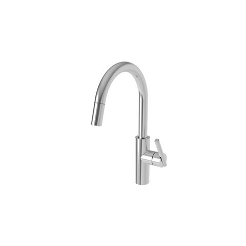 Newport Brass 1500-5113 East Linear High-Arc Pullout Spray Kitchen Faucet with Magnetic Docking