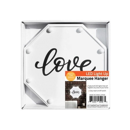 Love LED Marquee Hanging Wall Sign - Pack of 4