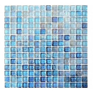 "Miseno MT-LEEDSIENNA3/4SQ Leed Sienna - 3/4"" X 3/4"" - Glass Visual - Wall Tile (Sold by Sheet)"