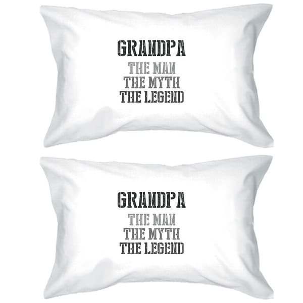 Legend Grandpa Cotton Pillowcases Queen Size Family Gift