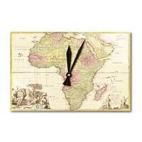 Africa - (1725) - Panoramic Map (Acrylic Wall Clock) - acrylic wall clock