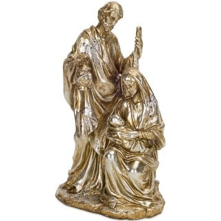 Pack of 2 Decorative Polystone Holy Family Figures