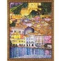 Gustav Klimt 'Malcesine on Lake Garda' Hand Painted Oil Reproduction