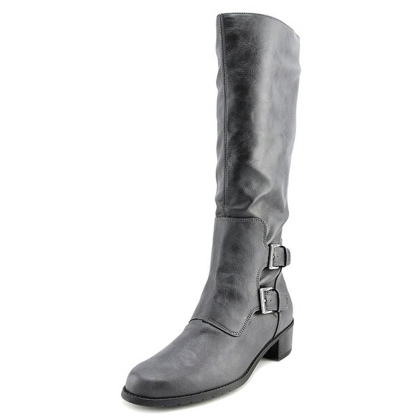 Aerosoles Ever After Women Round Toe Synthetic Gray Knee High Boot