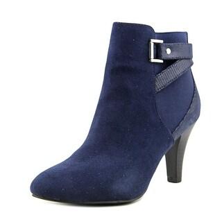 Karen Scott Majar Women Round Toe Canvas Blue Ankle Boot