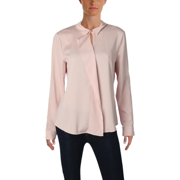 6f113092a96712 Shop Ivanka Trump Womens Blouse Cuffed Ruffled - Free Shipping On Orders  Over  45 - Overstock - 25363133