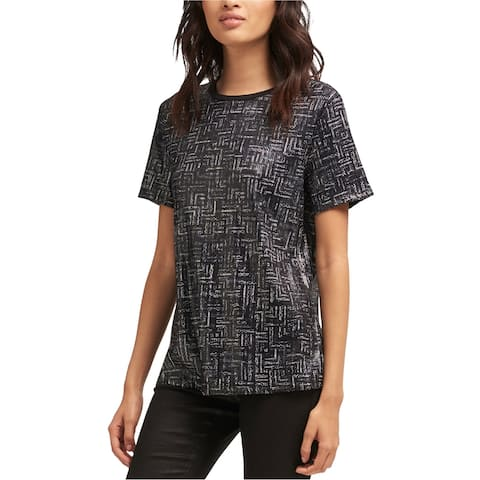 Dkny Womens Sequin Embellished T-Shirt