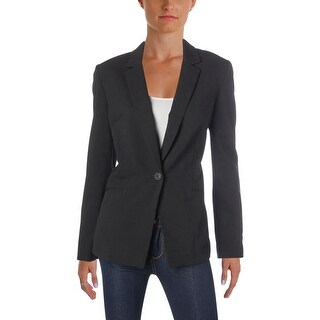 Tahari ASL Womens One-Button Blazer Double Vent Office - 10