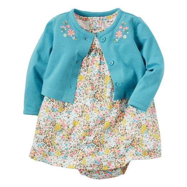 c540a2d4d Shop Carter s Baby Girls  2-Piece Bodysuit Dress   Cardigan Set