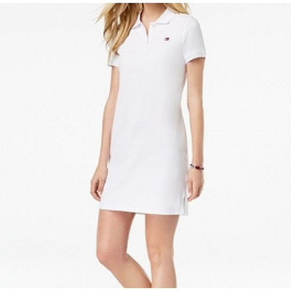 tommy hilfiger white shirt dress