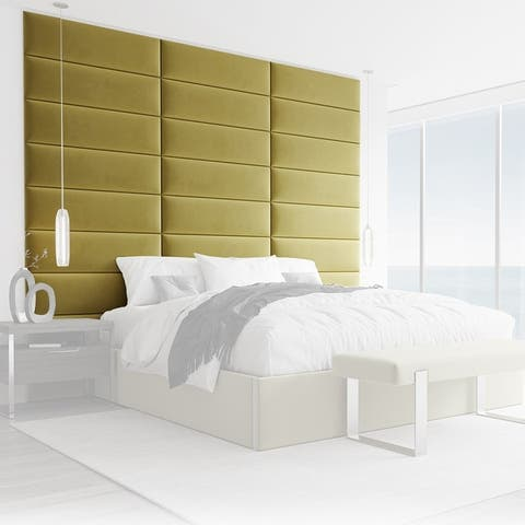 VANT Upholstered Headboards - Olive Moss - 39 Inch - Set of 4 panels