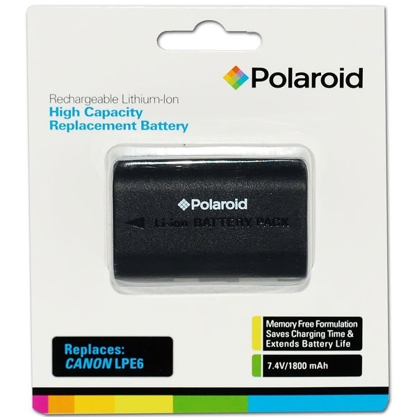 Polaroid Rechargeable Battery Canon LPE6 Replacement
