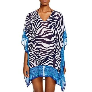 Tommy Bahama Womens Tunic Top Chiffon Printed