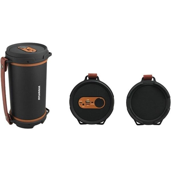 Sylvania Sp807-Brown Hi-Fi Bluetooth(R) Rugged Tube Speaker (Brown)