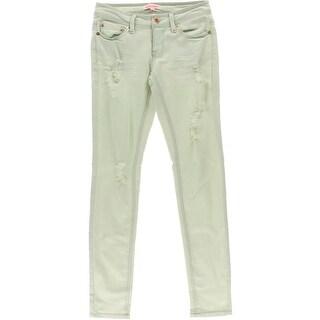Doll House Womens Juniors Skinny Jeans Denim Destroyed - 7