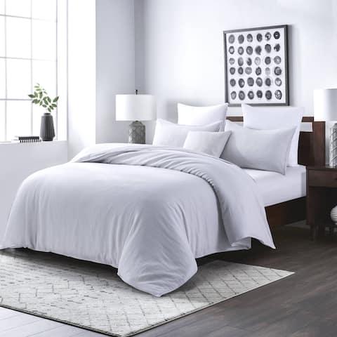 Linen Duvet Cover with Pillow Shams, 3 Pieces Set, Basic Style