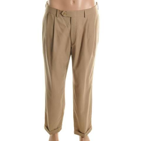 Ralph Lauren Mens Total Comfort Dress Pants Wool - Tan - 30/30