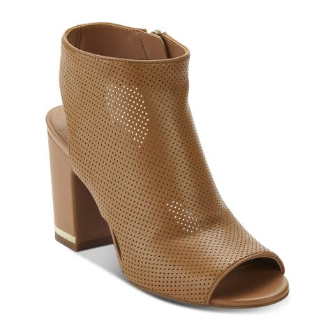 DKNY Womens Hayden Leather Peep Toe Classic Pumps