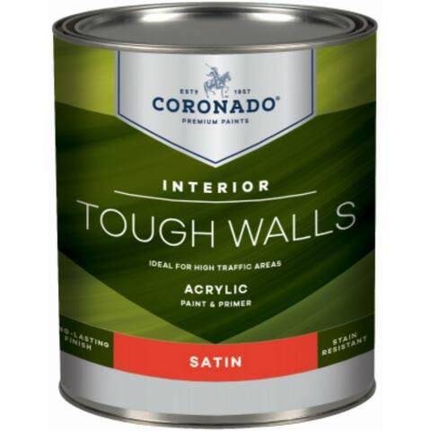 Coronado 60-33-4 Tough Walls Acrylic Interior Paint & Primer, Tint Base, 1 Qt