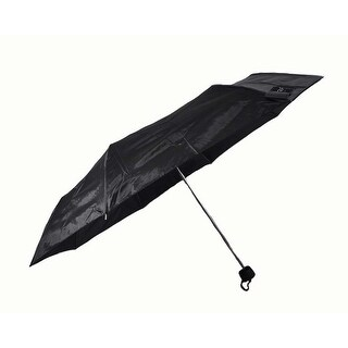 "Rain Pro Compact Manual Black 42"" Span Rubber Comfort Handle Umbrella"