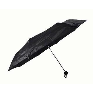 "Rain Pro Compact Manual Black 42"" Span Rubber Comfort Handle Umbrella"
