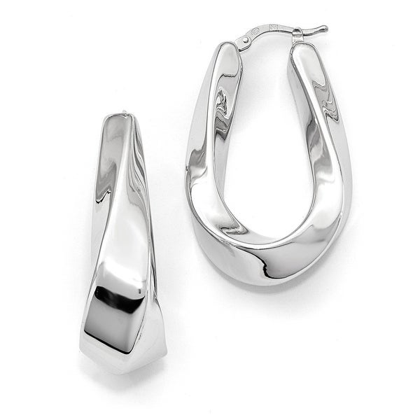 Italian Sterling Silver Polished Hoop Earrings