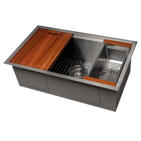 ZLine DuraSnow Undermount Single-bowl Sink w/ Accessories