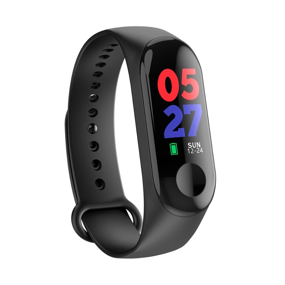 M3 Fitness Activity Tracker & SmartWatch by Indigi - Heart Rate Monitor - Blood Pressure - Pedometer - SMS & Call Alerts - N/A (Black)