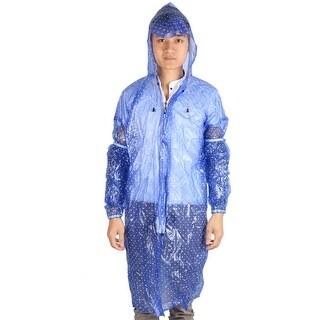 Plastic Dot Pattern Cover Water Resistant Dustproof Apron w Sleeve Pair Blue