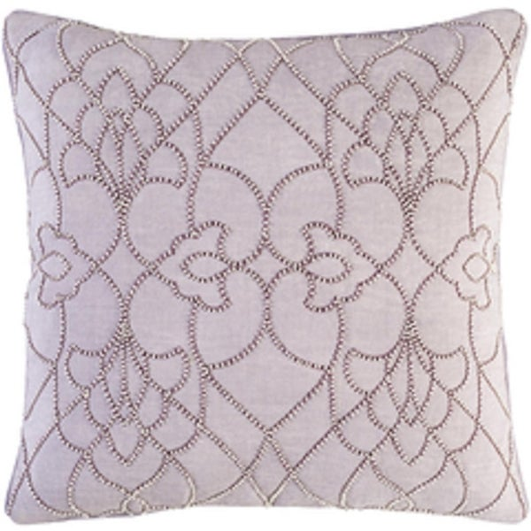 """20"""" Lavender Blush and Ivory Modish Western Woven Decorative Throw Pillow - Down Filler"""