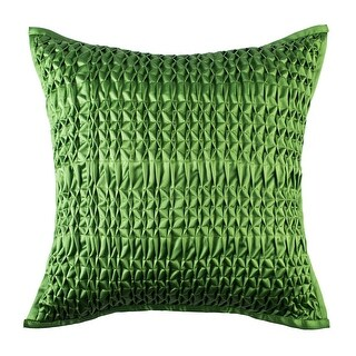 100% Handmade Imported Intersection of Perfection Pillow Cover, Green