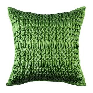 Modern Solid Green Cotton Handmade Decorative Throw Pillow Cover, 18x18