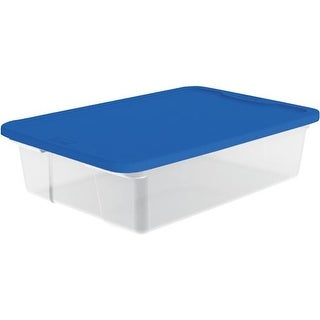 Homz Products/Storage 28Qt Clear Underbed Tote 3228CLBL.08 Unit: EACH
