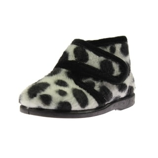 Cienta Girls Chukka Boots Animal Print Faux Fur