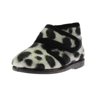 Cienta Girls Chukka Boots Animal Print Faux Fur