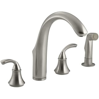 Kohler K-10445 Widespread Kitchen Faucet with Sidespray from the Forte Collection