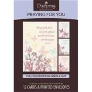 Dayspring Cards 12063X Card Boxed Pray For You-Butterflies