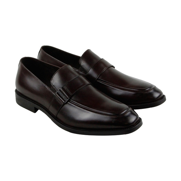 Kenneth Cole New York Design 10572 Mens Brown Casual Dress Loafers Shoes