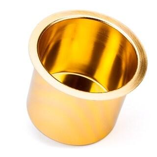 Vivid Gold Aluminum Drop In Cup Holder