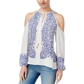 Guess Womens Blouse Paisley Printed - s