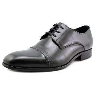 Kenneth Cole NY Up The Wall Men  Square Toe Leather Black Oxford