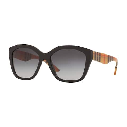 Burberry BE4261 37578G 57 Black Woman Irregular Sunglasses