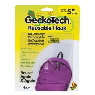 GeckoTech 282314 Reusable Hook with Microsuction Technology
